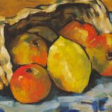 apples with basket (cezanne)