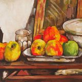 apples with bowl (cezanne)