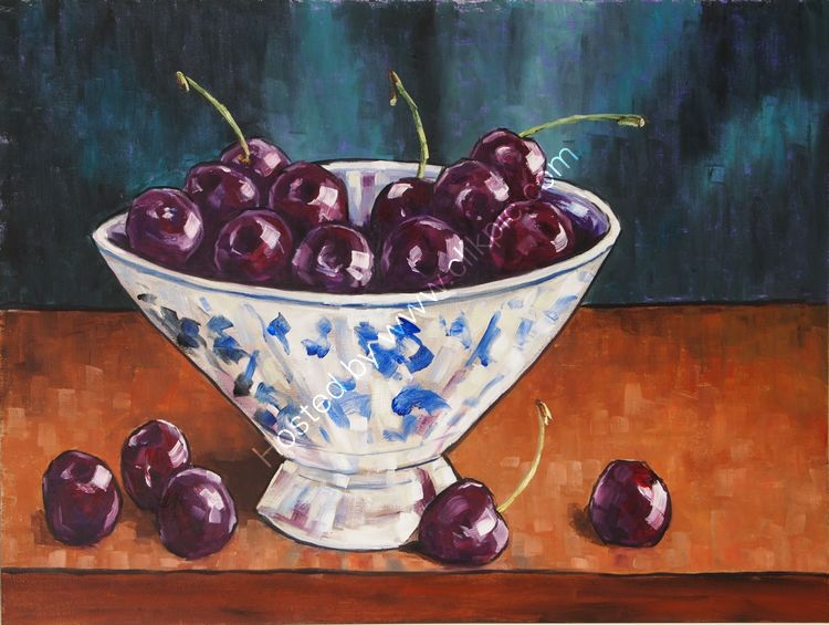 Dark cherries, 30x40 £160