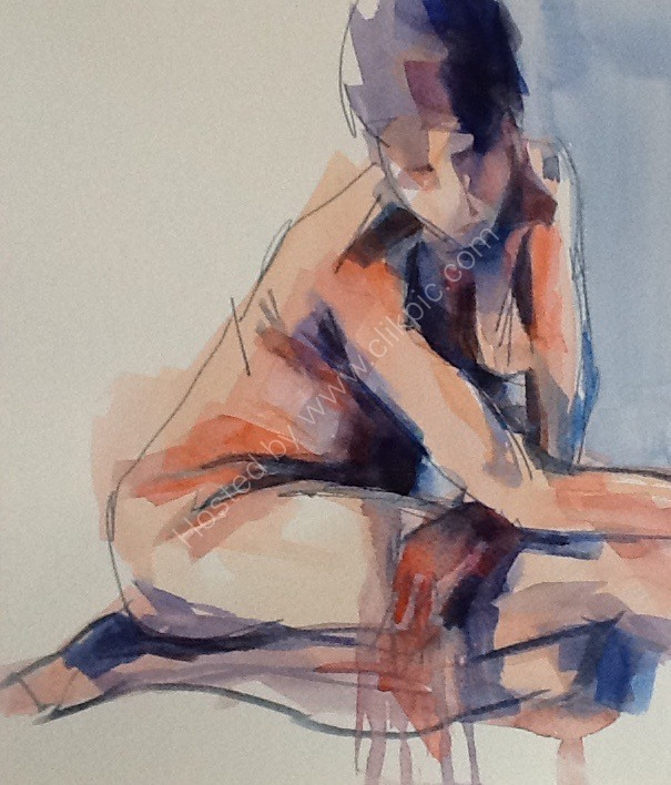 Stretching dancer, seated