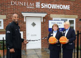 Opening of Dunelm Showhome with the Newcastle Basketball Team.