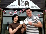 Chris Morgan Chesterfield FC Coach-Opening of Coffee Shop,Penistone.