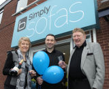 Opening of Simply Sofas,Sheffield.