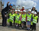 School visit to Killingworth new housing site.