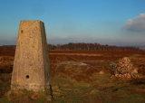Stanton Moor Trig Point.