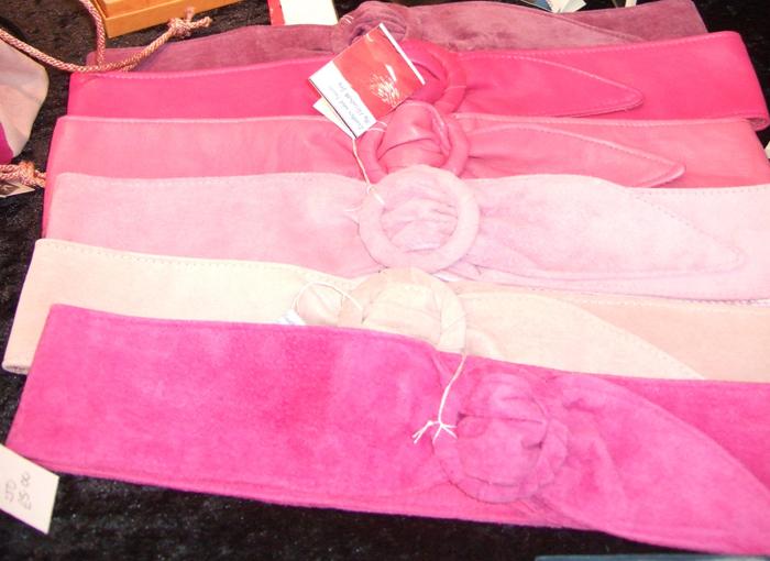 Belts in pink