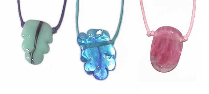 Blue Pink Necklaces