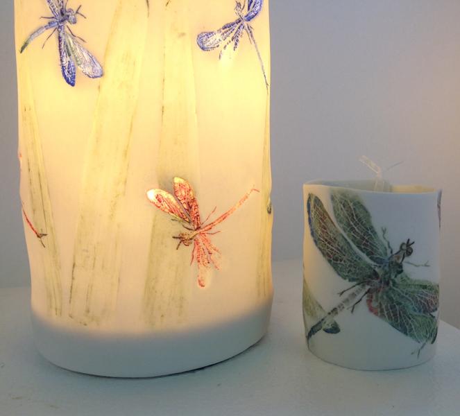 Dragonfly Lantern & T-light Holder