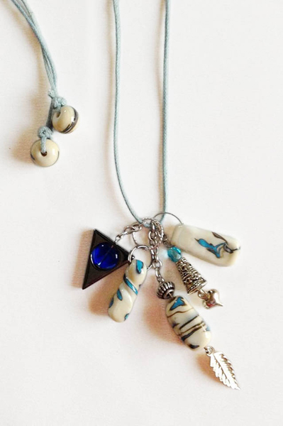Ivory Cluster Necklace