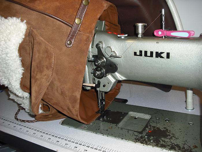 Making Suede-Sheepskin Bag