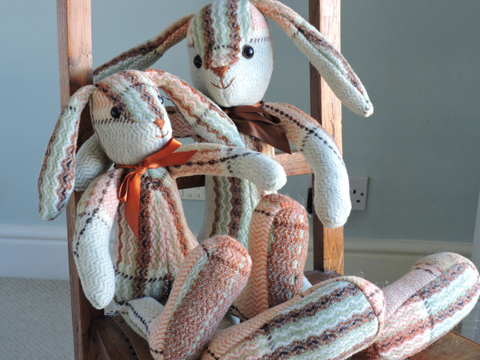 Vintage Welsh Blanket Rabbits