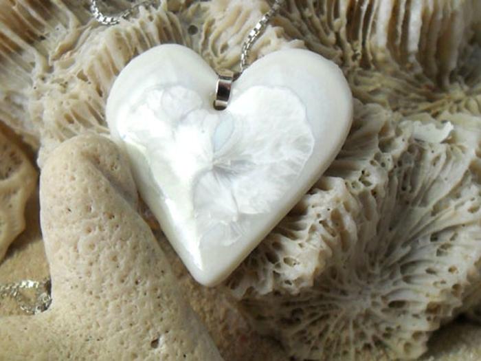 White Heart Pendant