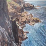 Cornwall Coast near Gurnard's Head 74x102cm (1996) Oil on Board Estate of Peter Iden #306 Price: £2500