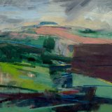 Damp Summer Downland 56x57cm (2010) Oil on Board Estate of Peter Iden #31 £5000 SOLD
