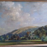 Downland at Treyford 58x43cm (1992) Oil on board Estate of Peter Iden #363 Price: £2500