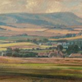 Firle Beacon from Wilmington 75x39cm (1993) Oil on board Estate of Peter Iden Number 359 Price: £2500