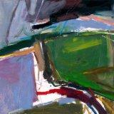 Landscape with Green Field 59x59cm (2008) Oil on Board Estate of Peter Iden #13