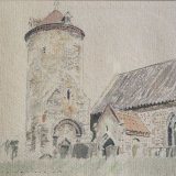 Little Snoring Church, Norfolk Watercolour Estate of Peter Iden #316