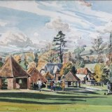 Weald and Downland Open Air Museum 29cmx19cm Watercolour Estate of Peter Iden #324