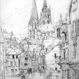 Rue de Lisses, Chartres 23x34cm 1970 Pencil drawing Estate of Peter Iden #334