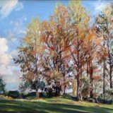 Untitled [Poplar Trees] 64x43cm Oil on Canvas Estate of Peter Iden #418 Price £1200