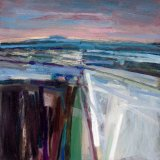 Walk after Sunset 30x30cm (2011) Oil on Board Estate of Peter Iden #56
