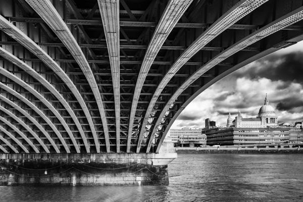 View under Blackfriars Bridge