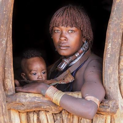 Mother & Child , Hamar Tribe