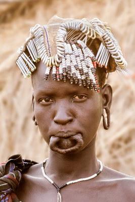 Young Girl, Mursi Tribe