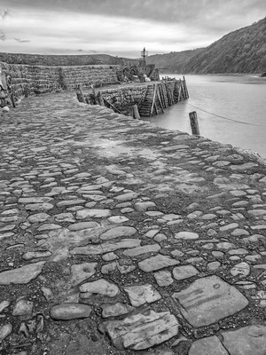 A Misty And Damp Day At Clovelly Breakwater