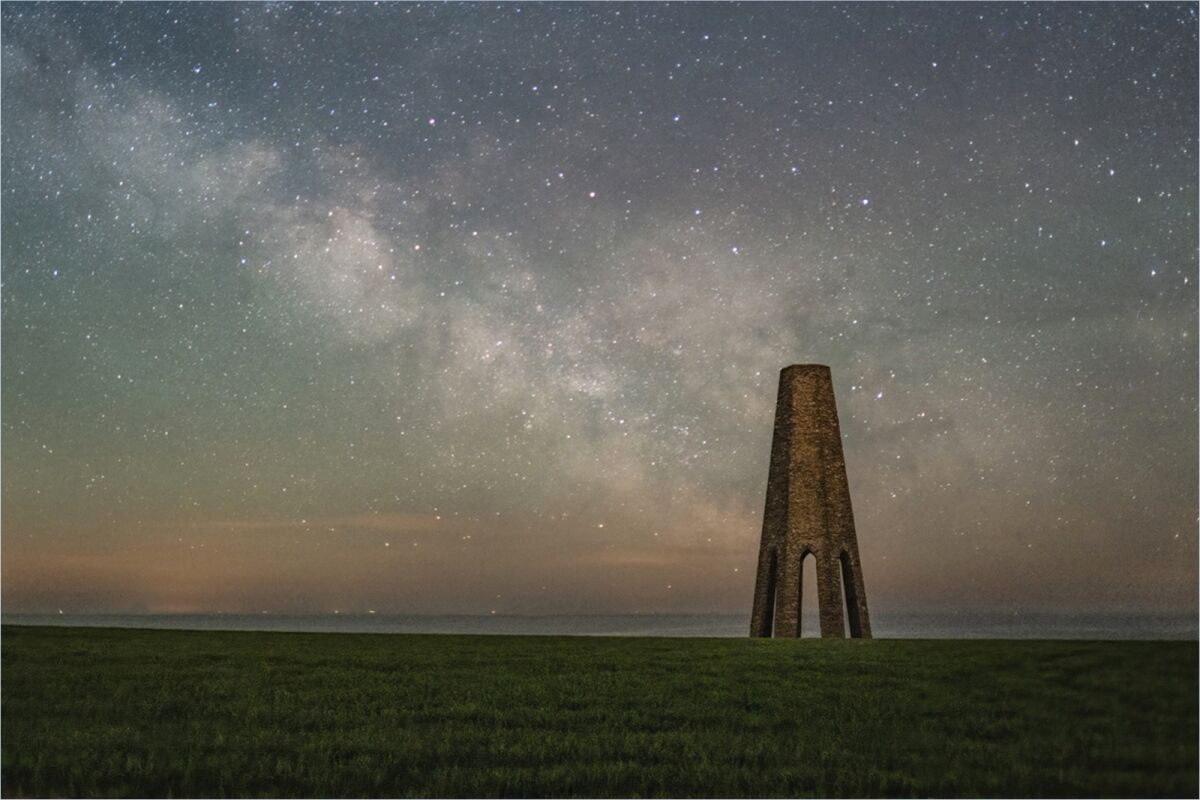 Milky Way over the Daymark, Kingswear