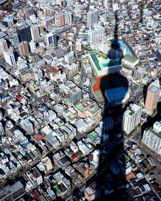 Skytree shadow (Tokyo)
