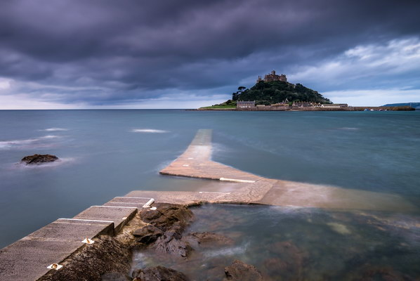 Storm brewing over St Michaels Mount