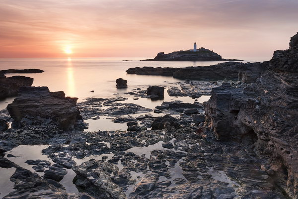 Summer's evening at Godrevy