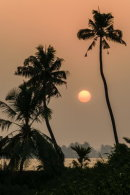 Sunset over the backwaters, Kerala