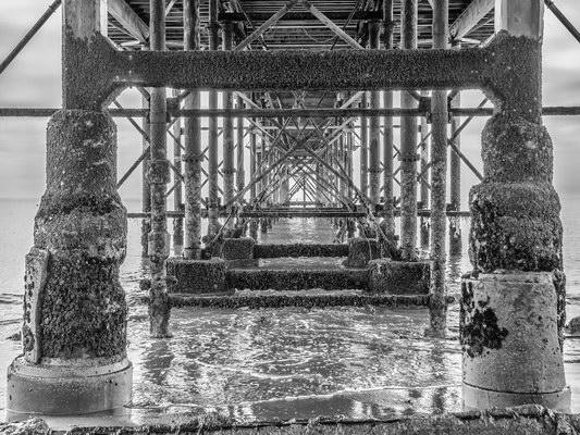 Underneath Teignmouth Pier