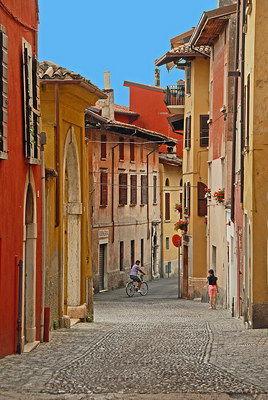 Village Street By Lake Garda