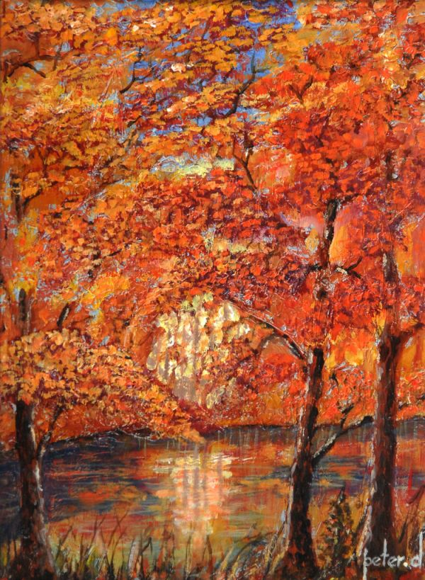 Autumnal Forest Pool. ORIGINAL SOLD. Giclee available I