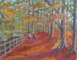 Lovers Autumnal stroll thru' Walkden Woods  ORIGINAL SOLD