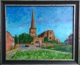 St Mary's Church Astbury Cheshire ORIGINAL SOLD