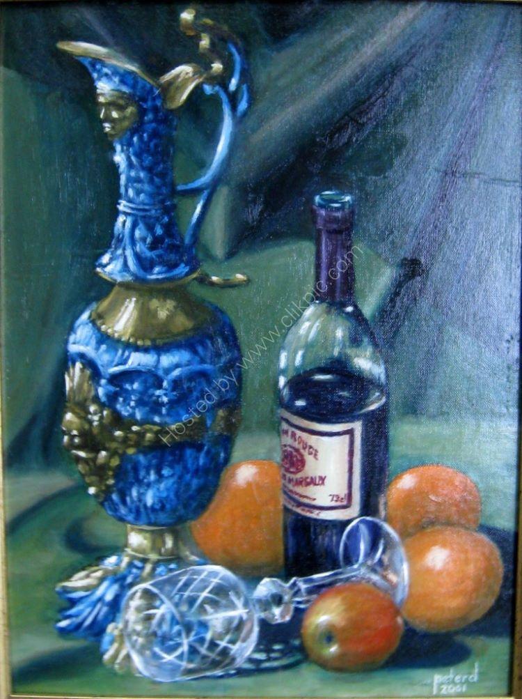Portuguese Jug Claret and Fruit