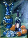 Portuguese Jug Claret and Fruit