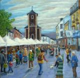 Market Day Keswick Cumbria.  ORIGINAL SOLD