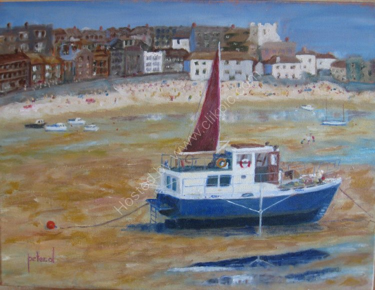 High and Dry St Ives Cornwall. ORIGINAL SOLD