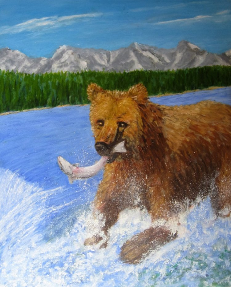"""Gone fishin' (Grizzly style"""")"""