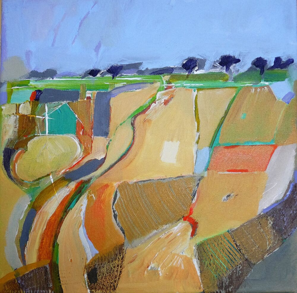 Fields near York 30x30cm
