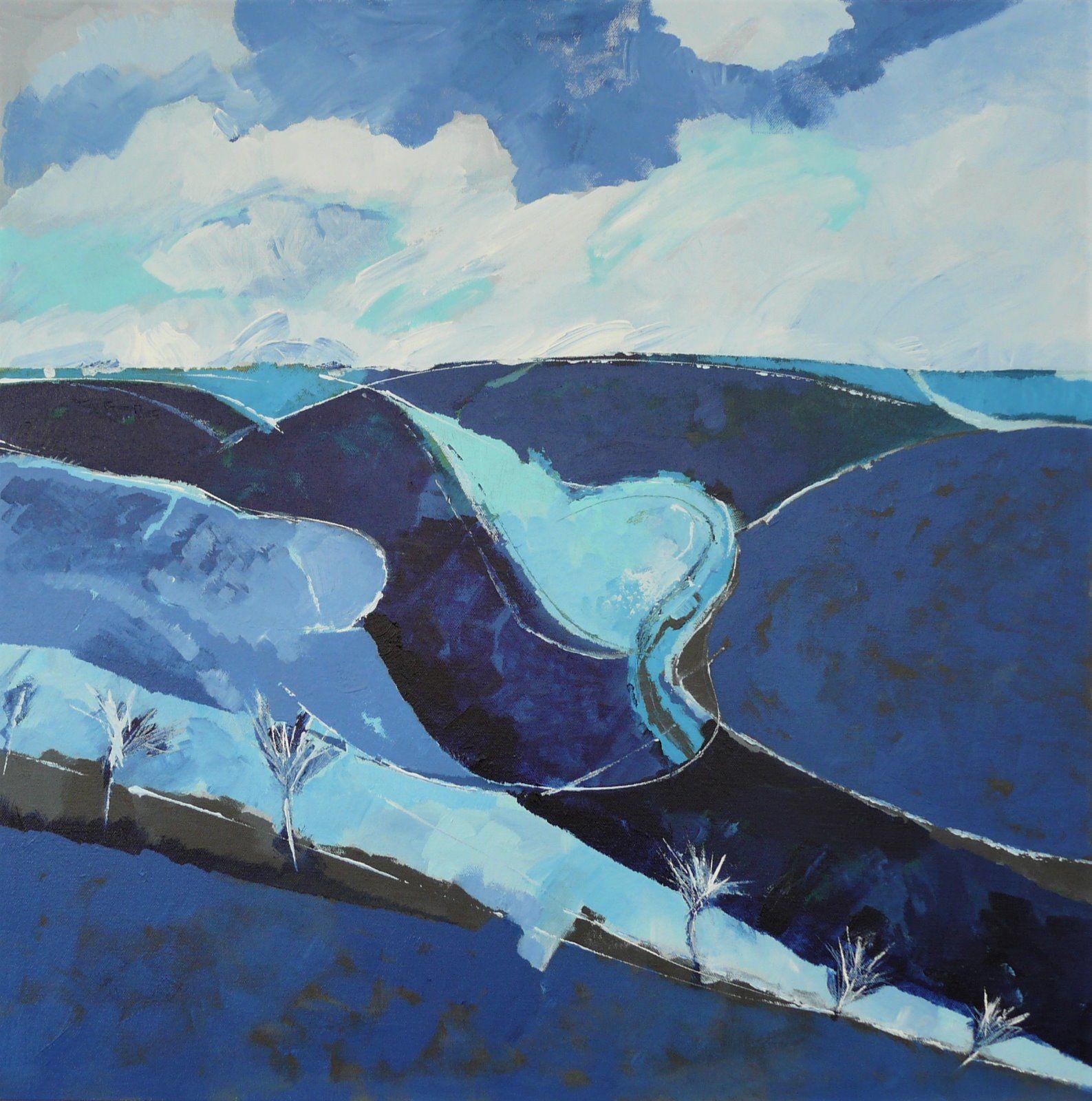 Blue wolds. 70x70cm