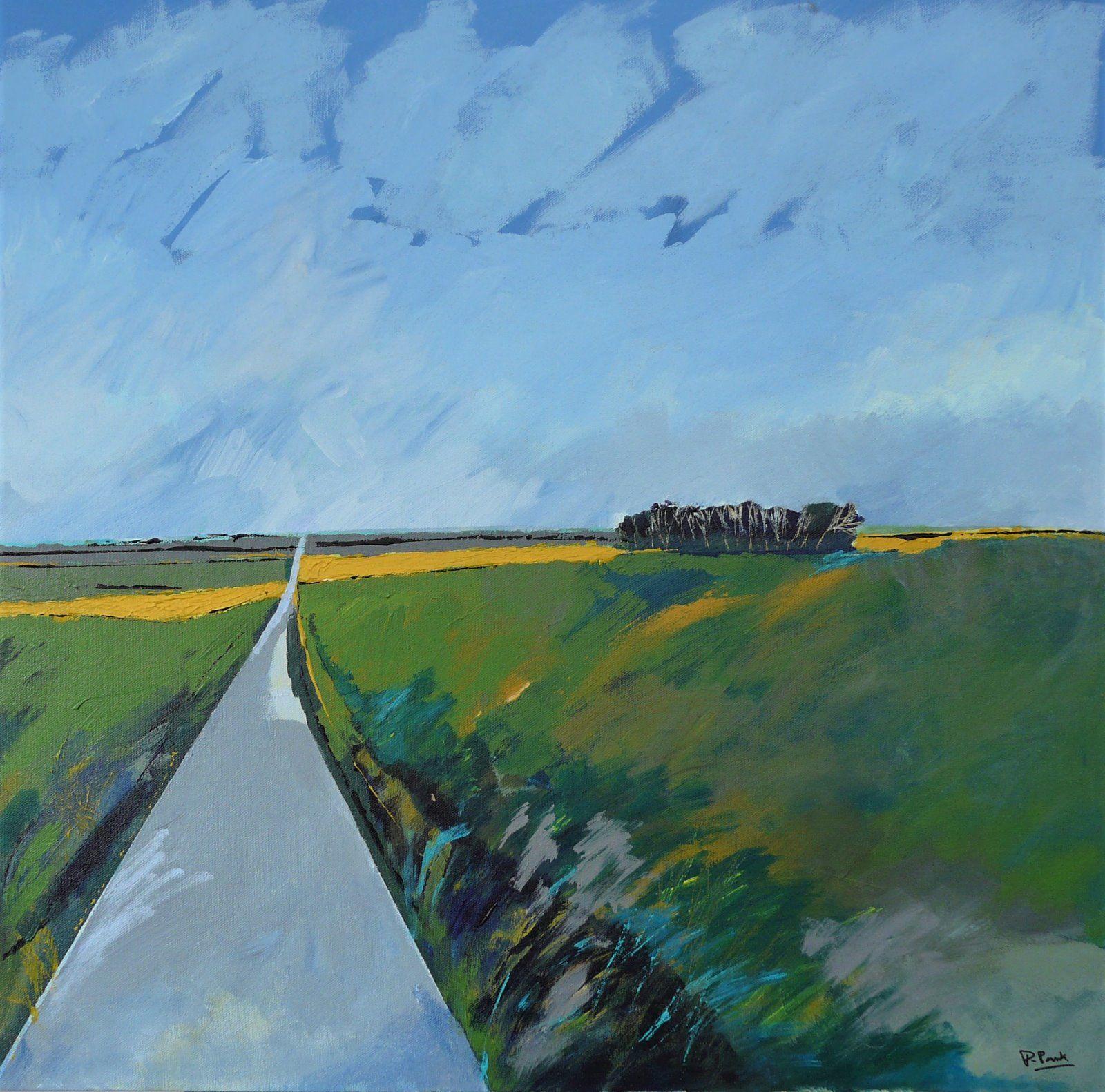 Long road. 70x70cm
