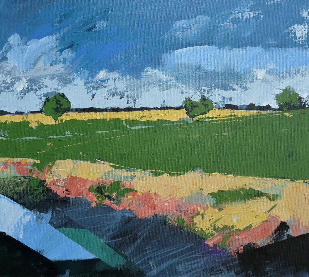 Spring field. 45x40cm