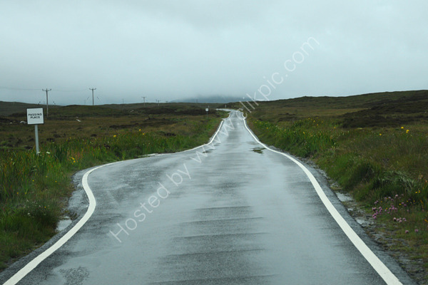 Narrow road with passing places, South Uist